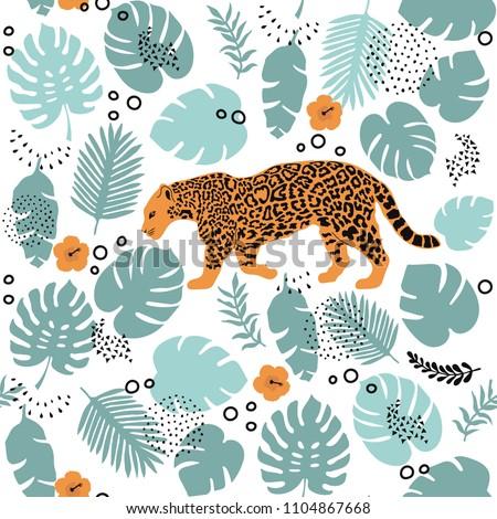 tropical pattern   seamless