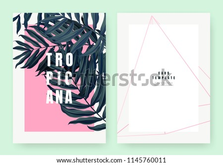 tropical plant invitation card