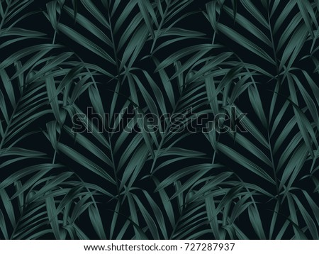 tropical plant seamless pattern
