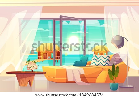 tropical resort hotel room