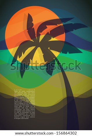Tropical resort. vector illustration