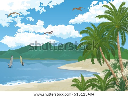 tropical sea landscape  summer