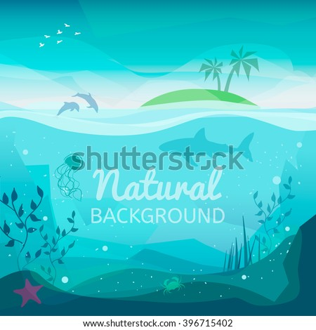 tropical sea natural background