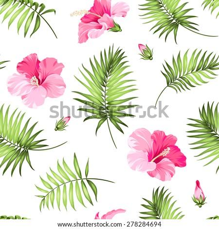 tropical seamless pattern palm