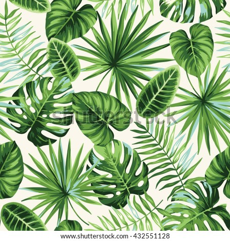 tropical seamless pattern with
