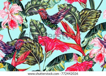 tropical seamless vector...