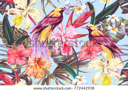 tropical seamless vector...