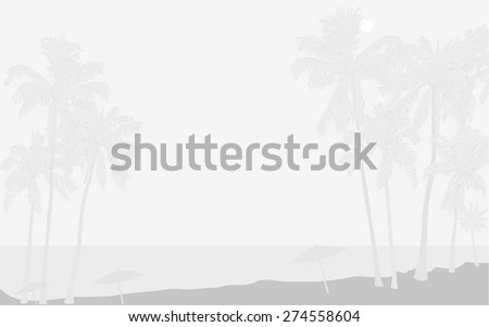 tropical seashore with palms