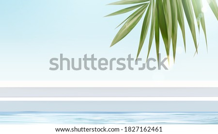 tropical stage for product
