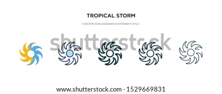 tropical storm icon in