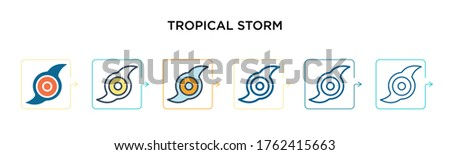 tropical storm vector icon in 6
