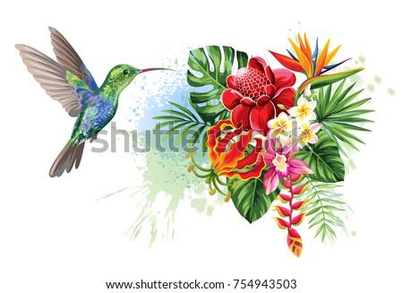 tropical summer arrangements