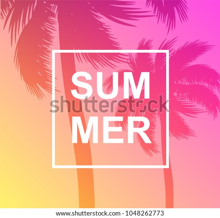 tropical summer background palm