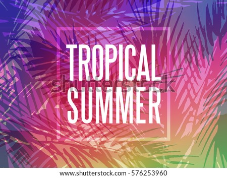 tropical summer background with