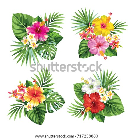 tropical summer bouquet with...