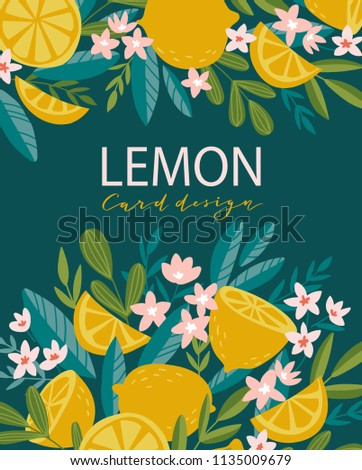 tropical summer fruit poster