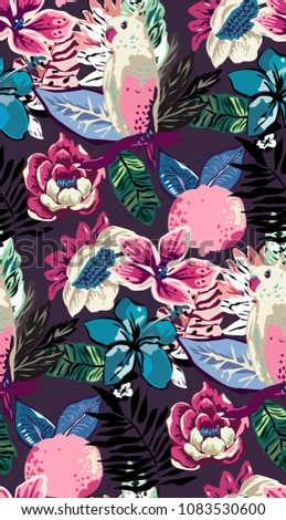 tropical summer pattern with