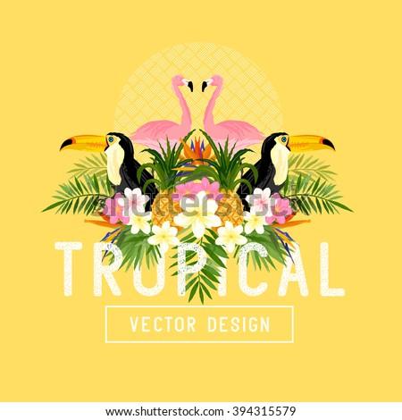 Tropical Summer themed Vector.