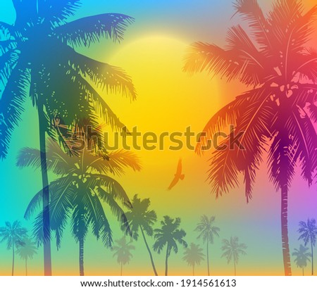 tropical sunrise with gradient
