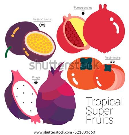 tropical super fruits four