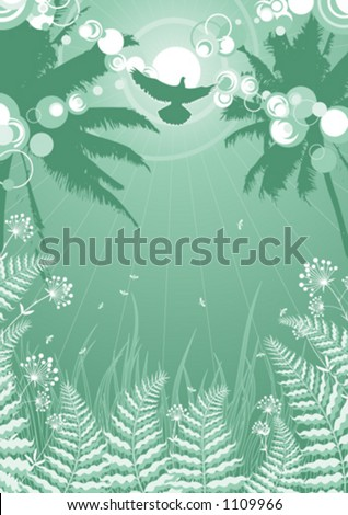 Tropical theme background