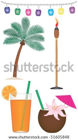 Tropical Theme Collection Vector
