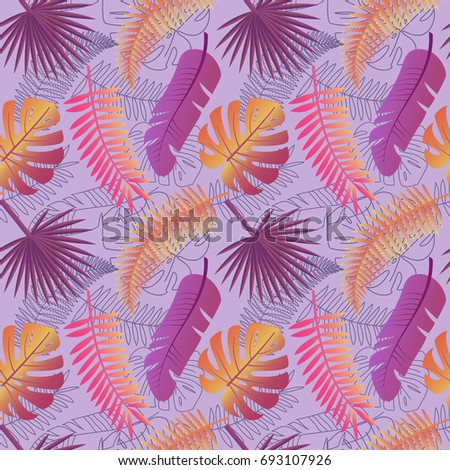 tropical trendy pattern with