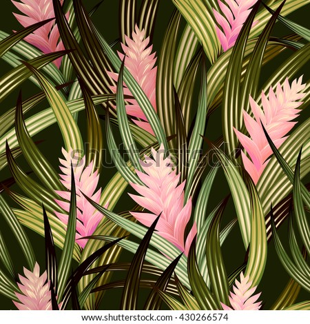 tropical vector pattern with