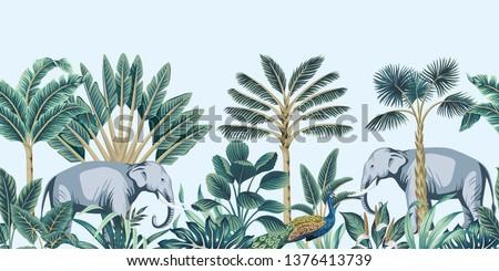 tropical vintage botanical