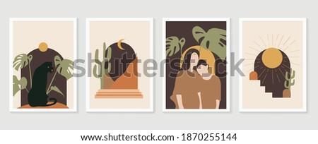 tropical windows frame wall art