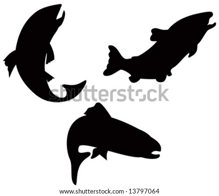 Free Vector Stocks on Trout Silhouette Stock Vector 13797064   Shutterstock