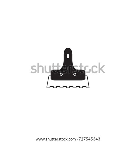 Trowel for tile icon, vector illustration.