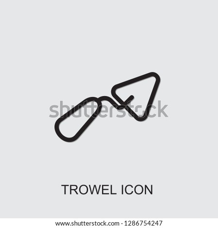 trowel icon . Editable outline trowel icon from construction. Trendy trowel icon for web and mobile.