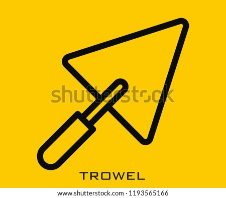 Trowel icon signs