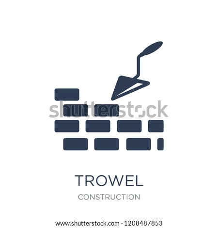 Trowel icon. Trendy flat vector Trowel icon on white background from Construction collection, vector illustration can be use for web and mobile, eps10