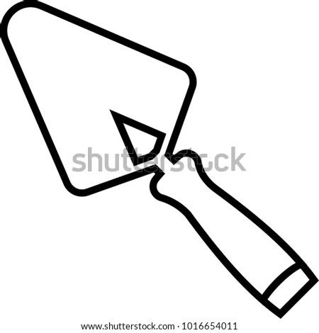 Trowel Icon, Trowel Vector Art Illustration