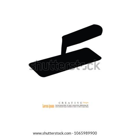 Trowel icon.vector illustration.