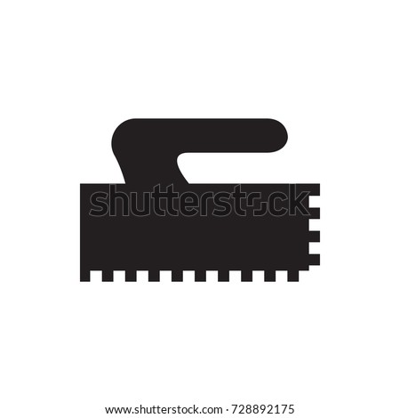 trowel icon vector isolated on white background
