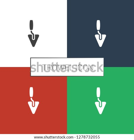 trowel icon white background. Editable filled trowel icon from construction. Trendy trowel icon for web and mobile.