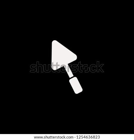 Trowel vector icon. flat Trowel design. Trowel illustration for graphic