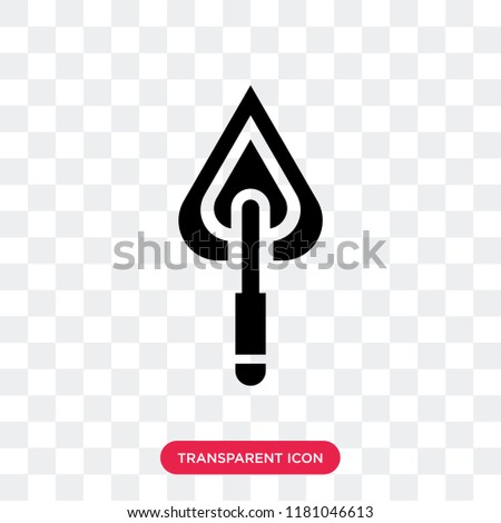 Trowel vector icon isolated on transparent background, Trowel logo concept