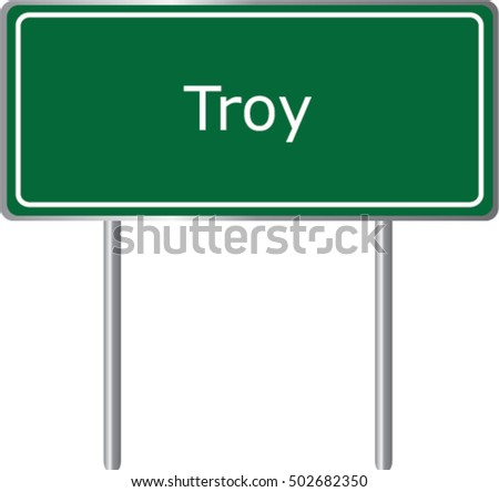 troy   illinois   road sign