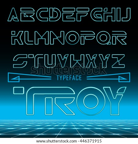 troy retro font   gradient