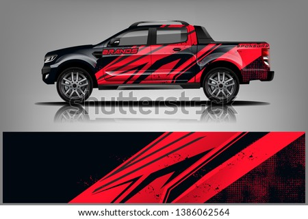 truck and car decal design vector kit. abstract background graphics for vehicle advertisement and vinyl wrap