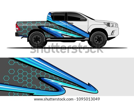 Truck and car graphic background wrap and vinyl sticker
