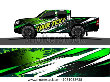 truck and car graphic vector. abstract lines with grunge background design for vehicle vinyl wrap