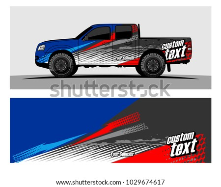 Truck,car And Vehicle racing graphic kit background for wrap and vinyl sticker