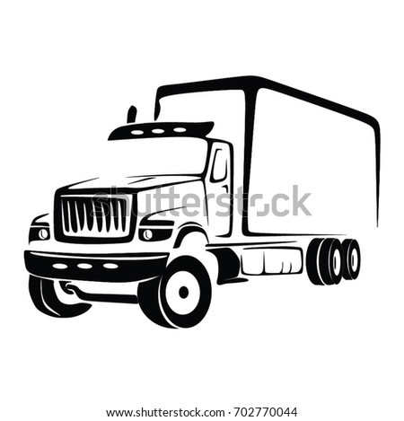 TRUCK CARGO VECTOR. BIG TRUCK ILLUSTRATION.