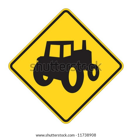 Truck Crossing warning on white background
