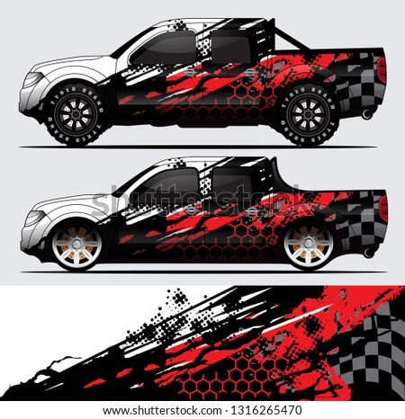 truck decal graphic wrap vector, background abstract pattern